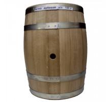 Бочка дубова 100 літрів для напоїв (оцинкований обруч)