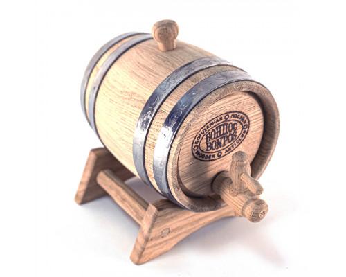 Бочка дубовая 1 литр (нержавеющий обруч)