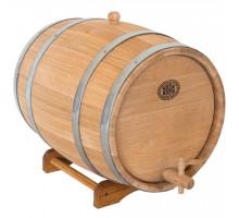 Бочка дубова 30 л для вина, коньяку (нержавіючої обруч)