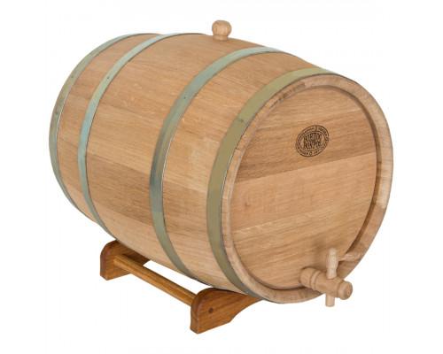 Бочка дубовая 30 литров для напитков (оцинкованный обруч)