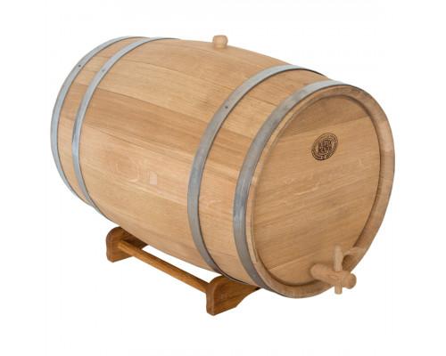 Бочка дубовая 50 литров для напитков БонПос (нержавеющий обруч)