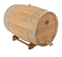 Бочка дубова 50 л для вина, коньяку (оцинкований обруч)