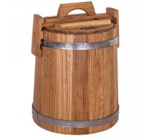 Дубовая кадка для засолки 10 л БонПос (нержавеющий обруч)