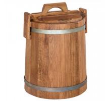 Кадка дубовая для солений 10 л БонПос (оцинкованый обруч)