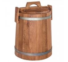 Кадка дубовая для солений 15 л БонПос (оцинкованый обруч)