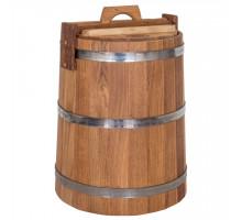 Дубовая кадка для засолки 30 л БонПос (нержавеющий обруч)