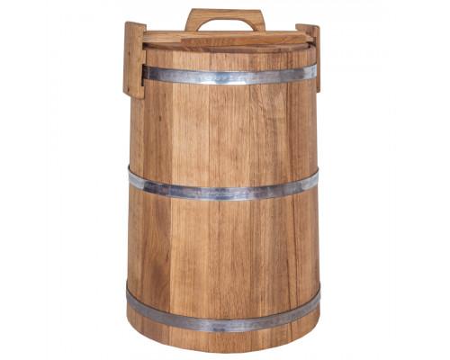Дубовая кадка для засолки 100 л БонПос (нержавеющий обруч)
