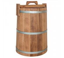 Кадка дубовая для солений 100 л БонПос (оцинкованый обруч)