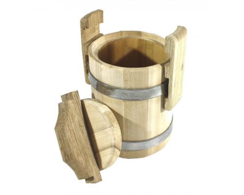 Липовый бочонок для мёда 0.5 л (кадка)- БонПос
