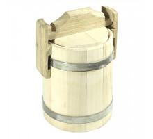 Липовый бочонок для мёда 1 л (кадка) - БонПос