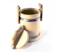 Липовый бочонок для мёда 3 л (кадка) - БонПос
