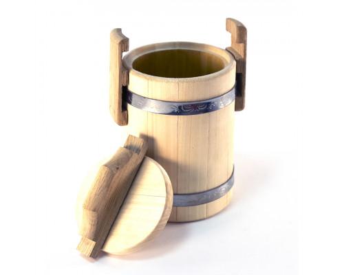 Липовий бочонок для меду 3 л (діжка) - БонПос