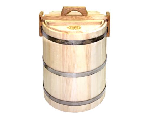 Кадка для соления 30л липовая (нержавеющий обруч)