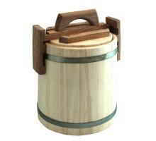 Кадка липовая для мёда 3 л БонПос (оцинкованый обруч)