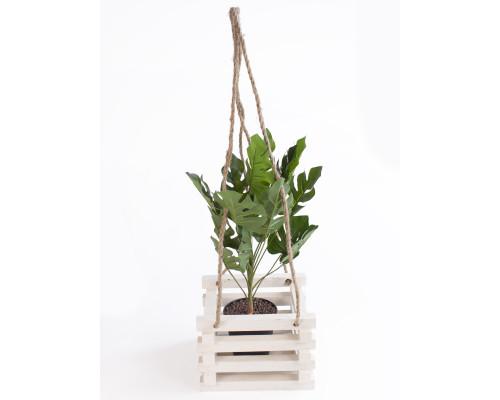 Кашпо для квітів з дерева БонПос біле