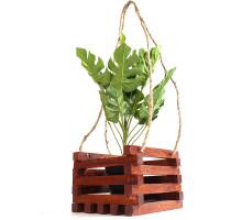 Кашпо для цветов из дерева БонПос коричневое