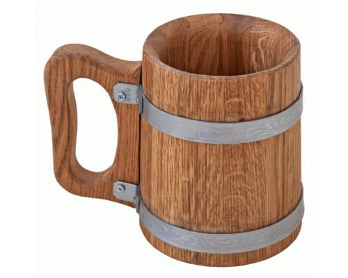Дерев'яна пивний кухоль 0,5 л
