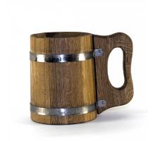 Деревянная пивная кружка 1 л