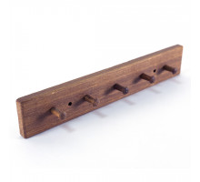 Вішалка дерев'яна настінна 5 гачка