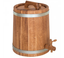 Дубовый жбан 10 литров (оцинкованный обруч)