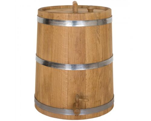 Жбан дубовий 30 літрів для напоїв (нержавіючої обруч)