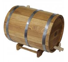 Бочка дубова (жбан) 30 л для вина, коньяку (нержавіючої обруч)