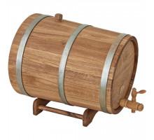 Бочка дубовая (жбан) 30 л для вина, коньяка БонПос (оцинкованный обруч)