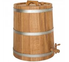 Бочка дубовая (жбан) 30 л для вина, коньяка (оцинкованный обруч)