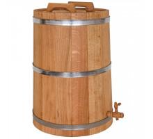 Дубовый жбан 50 литров БонПос (нержавеющий обруч)