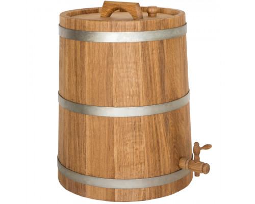 Бочка дубова (жбан) 50 л для вина, коньяку (оцинкований обруч)
