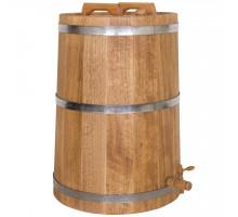 Жбан дубовый 80 литров для напитков (нержавеющий обруч)